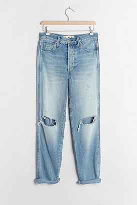 Amo Harlow Ultra High-Rise Distressed Straight Jeans By in Blue Size 25