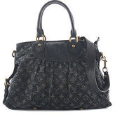 Louis Vuitton Dark Blue Denim Monogram Neo Cabby MM Satchel Handbag BP4288 MHL