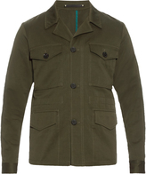 Paul Smith Single-breasted cotton and linen-blend jacket