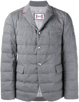 Moncler Gamme Bleu blazer style padded jacket - men - Cotton/Feather Down/Cupro - 3