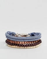 ICON BRAND Wood & Beaded Bracelets In Pack