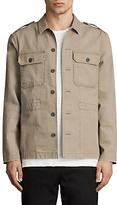 Allsaints Allsaints Dieppe Long Sleeve Shirt, Olive Green