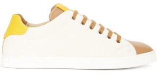 Fendi Ff-jacquard Canvas And Leather Trainers - Beige Multi