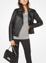 Michael Kors Studded Faux-Leather Jacket