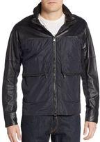 Michael Kors Nylon & Leather Stowaway-Hood Jacket