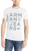 Armani Jeans Men's Stretch Jersey Logo T-Shirt, Cobalt, Small