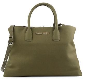 Miu Miu Cotton Satchel Bag