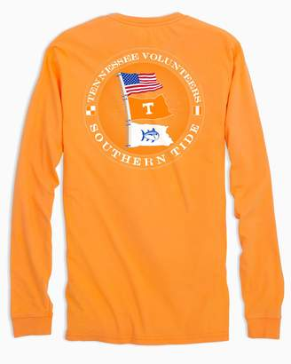 Southern Tide Tennessee Vols Flags Long Sleeve T-Shirt