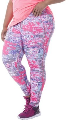 Fit For Me By Fruit Of The Loom Women's Plus Printed Performance Legging