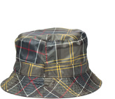 Barbour Khaki Green & Tartan Reversible Bucket Hat