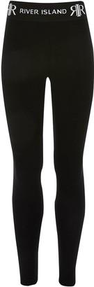 River Island Girls Waistband Legging-Black