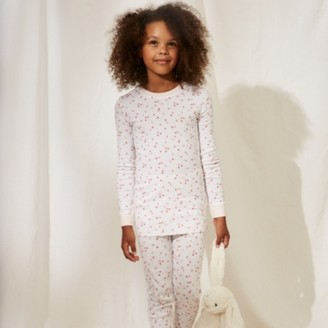 The White Company Slim Fit Floral Pyjamas (1-12yrs), Pink, 2-3yrs