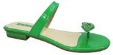 Green Embellished Lips Sandal