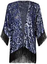 Select Fashion Fashion Womens Silver Nordic Devore Kimono - size 10
