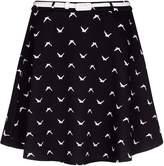 Yumi Swallow Print Skater Skirt
