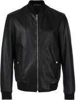 Versace zipped bomber jacket - men - Cotton/Lamb Skin/Polyamide/Spandex/Elastane - 50