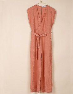 Indi & Cold - Blush Linen Jumpsuit - xs