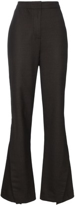 Wright Le Chapelain high waist buttoned wool trousers