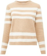 Allude Striped Cashmere-blend Sweater - Womens - Brown Multi