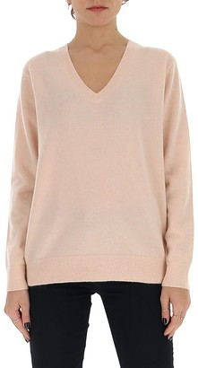 Vince V-Neck Ribbed Hem Jumper