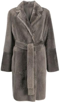 Yves Salomon Mid-Length Textured Coat