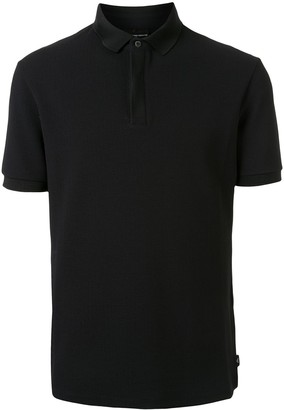 Emporio Armani Ribbed Collar Polo Shirt