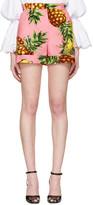 Dolce & Gabbana Pink Pineapple Shorts
