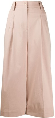 Etro High-Rise Pleated-Front Culottes