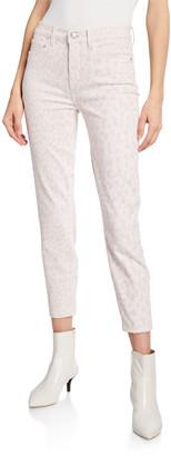 Current/Elliott The High Waist Stiletto Leopard-Print Jeans
