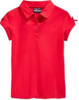 Nautica Uniform Bow-Sleeve Polo, Little Girls (4-6X)