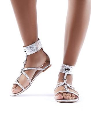 Public Desire Justice Croc Strappy Sandals