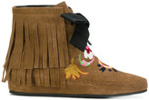 Etro fringed embroidered boots