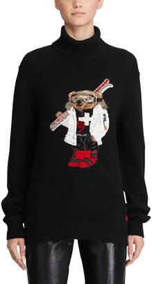 Ralph Lauren Cashmere Ski Bear Turtleneck Sweater