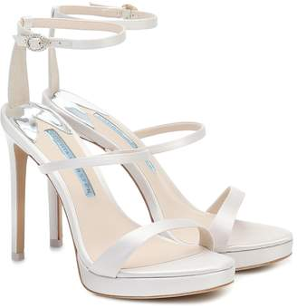 Sophia Webster Rosalind 100 satin bridal sandals