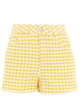 Topshop MOTO Gingham Mom Shorts
