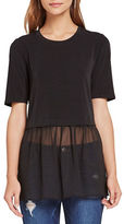 BCBGeneration Chiffon-Trimmed Twofer Top
