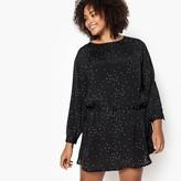 Castaluna Plus Size Ditsy Print Drop Waist Dress