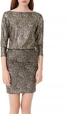Maje Rilexy Metallic Stretch Mini Dress