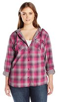Columbia Women's Plus-Size Times Two Hooded Long Sleeve Shirt