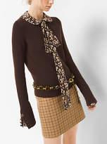 Michael Kors Button-Cuff Cashmere Sweater