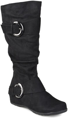 Journee Collection Jester Extra Wide Calf Side Buckle Tall Boot