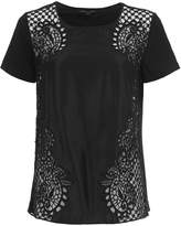 French Connection Gilly Lace Jersey BackTop
