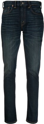 Ralph Lauren Stonewashed Mid-Rise Skinny Jeans