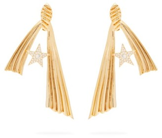ATTICO The Amore Stella Crystal-embellished Earrings - Womens - Gold