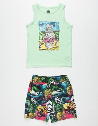 MAUI AND SONS Wild Shark Little Boys Tank & Boardshorts Set (4-7)
