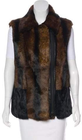 Pologeorgis Fur Leather Vest