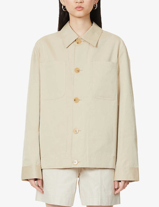 Riley Studio Patch pocket organic cotton-twill jacket