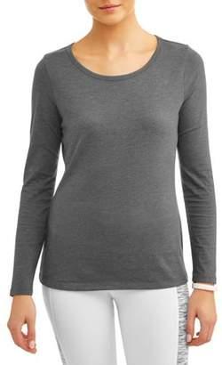 Athletic Works Women's Core Athleisure Crewneck Long Sleeve T-Shirt