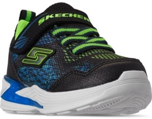 Skechers Toddler Boys Lights Erupters Iii - Derlo Stay-Put Light-Up Casual Sneakers from Finish Line