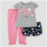 Just One You made by carter Toddler Girls' Three-Piece Pajama Set Gray - Just One You Made by Carter's®